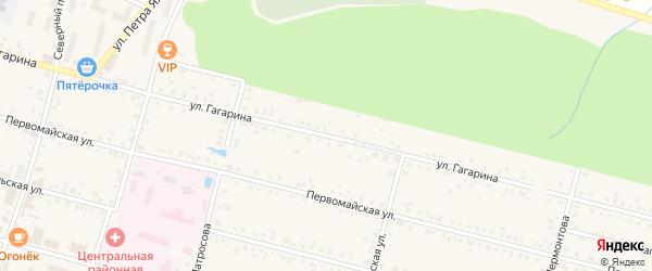 Улица Гагарина на карте поселка Вурнары с номерами домов