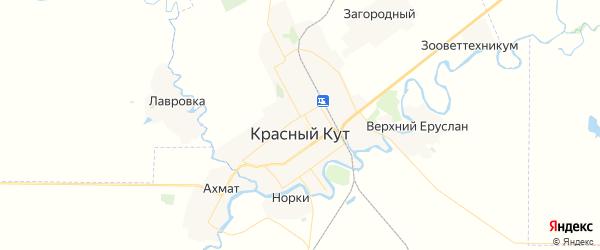 Карта Красного Кута с районами, улицами и номерами домов: Красный Кут на карте России
