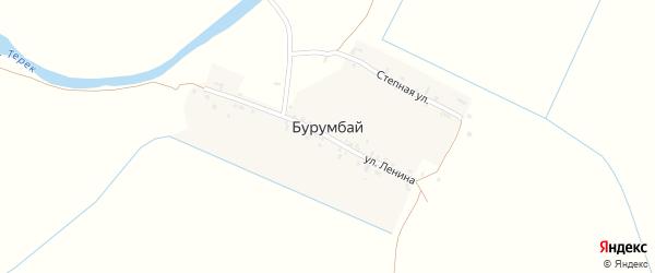 Улица Ленина на карте села Бурумбая с номерами домов