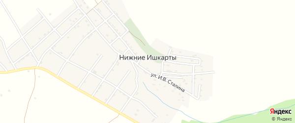 Улица 1 линия на карте села Нижнего Ишкарты с номерами домов