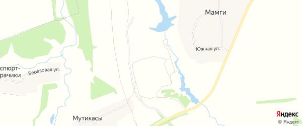 СТ Рябинушка на карте Ишлейского сельского поселения с номерами домов