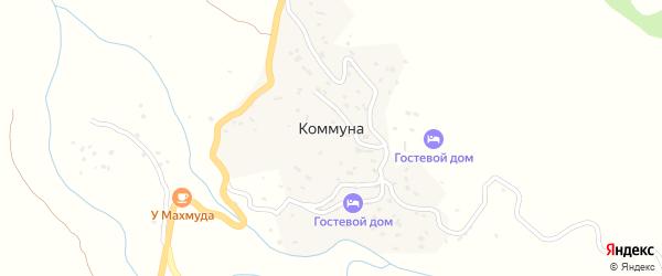 Чох-Коммунская улица на карте села Коммуна с номерами домов