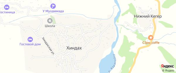 Хиндахская улица на карте села Хиндаха с номерами домов
