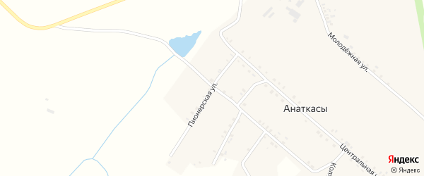 Пионерская улица на карте деревни Анаткас с номерами домов