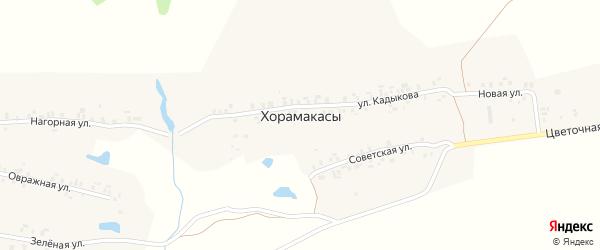 Новая улица на карте деревни Хорамакасы с номерами домов