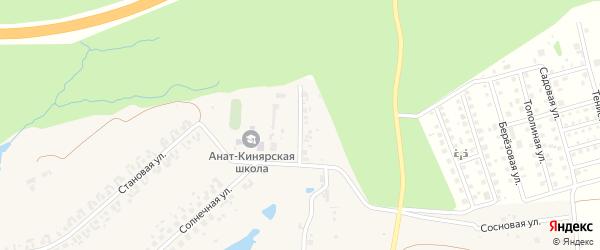 Становой переулок на карте деревни Малого Сундыря с номерами домов