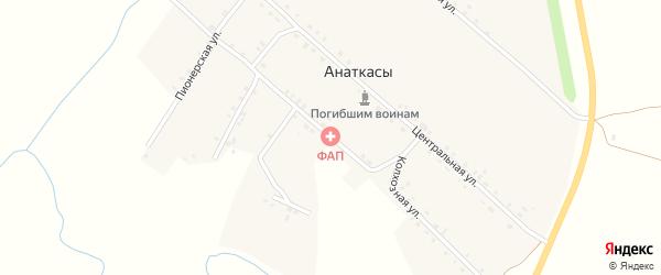 Колхозная улица на карте деревни Анаткас с номерами домов