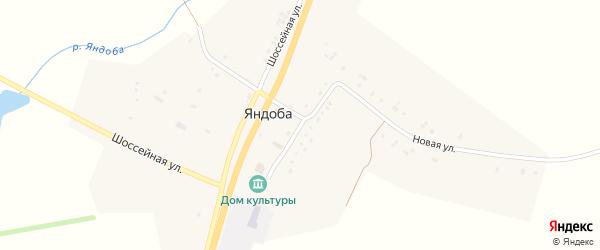 Школьная улица на карте села Яндобы с номерами домов