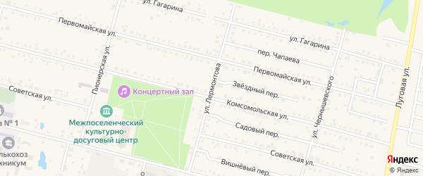 Улица Лермонтова на карте поселка Вурнары с номерами домов
