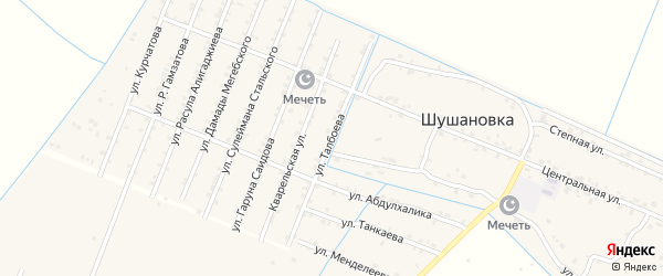 Улица Талбоева на карте Стальского села с номерами домов