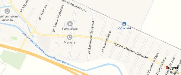 Улица В.Эмирова на карте Стальского села с номерами домов