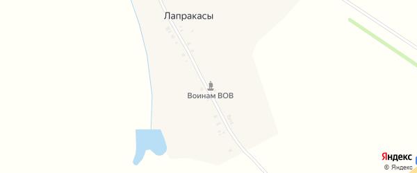Садовая улица на карте деревни Лапракасы с номерами домов