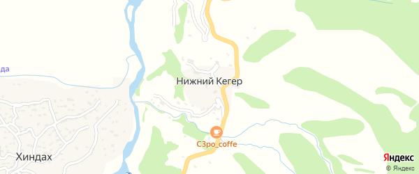 Заводская улица на карте села Нижнего Кегера с номерами домов