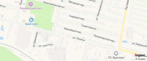 Вишневый переулок на карте поселка Вурнары с номерами домов