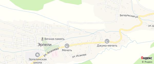Улица Абдулгамида Устарханова на карте села Эрпели с номерами домов