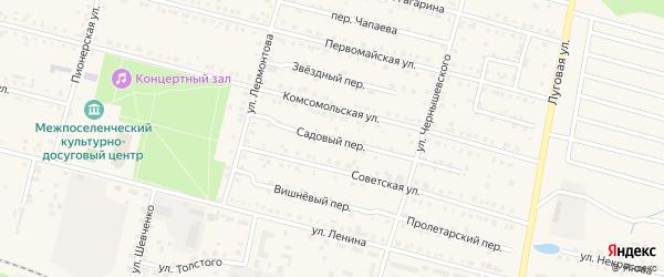Садовый переулок на карте поселка Вурнары с номерами домов