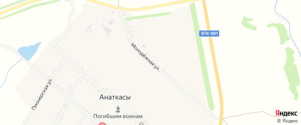 Молодежная улица на карте деревни Анаткас с номерами домов