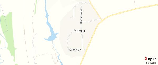 Карта деревни Мамги в Чувашии с улицами и номерами домов