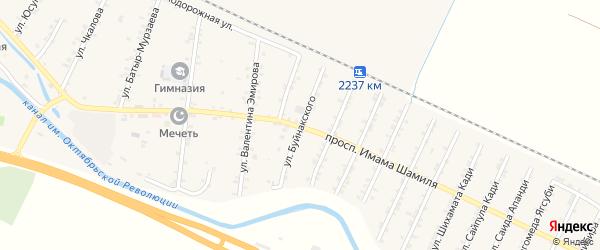 Улица Буйнакского на карте Стальского села с номерами домов