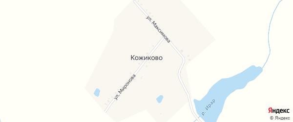Улица Миронова на карте деревни Кожиково с номерами домов