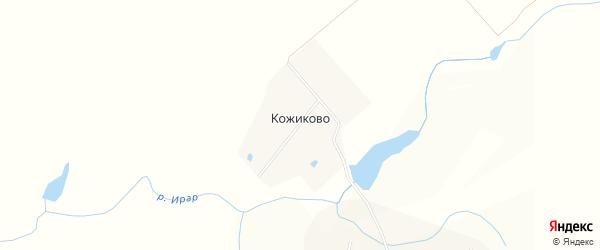 Карта деревни Кожиково в Чувашии с улицами и номерами домов