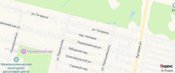 Переулок Чапаева на карте поселка Вурнары с номерами домов
