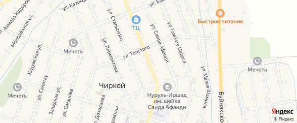 Улица Шамиля на карте села Чиркея с номерами домов