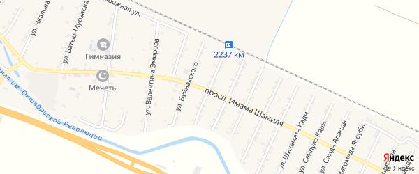 Улица Дахадаева на карте Стальского села с номерами домов