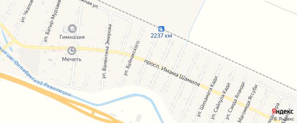 Улица Им Шамиля на карте Стальского села с номерами домов