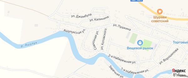 Совхозная улица на карте села Сасыколи с номерами домов