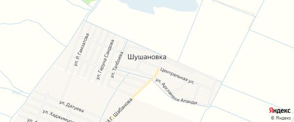 Карта села Шушановки в Дагестане с улицами и номерами домов