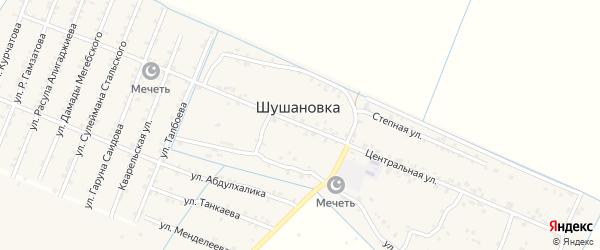 Центральная улица на карте Стальского села с номерами домов