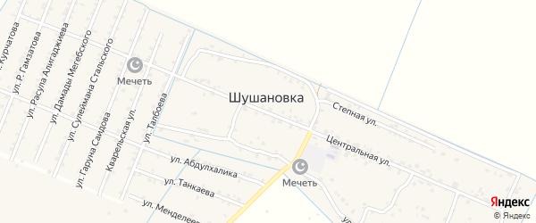 Центральная улица на карте села Султанянгиюрта с номерами домов