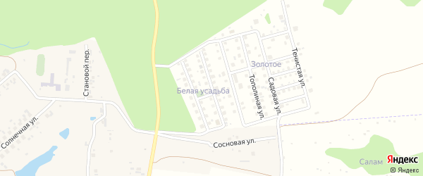 Яблоневая улица на карте деревни Малого Сундыря с номерами домов