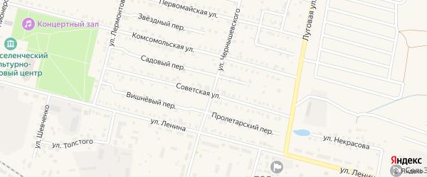 Улица Чернышевского на карте поселка Вурнары с номерами домов