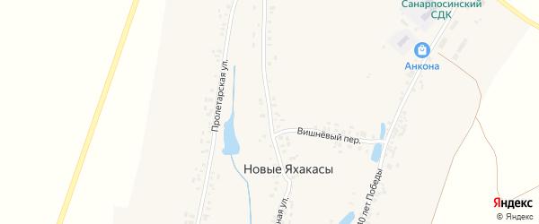 Центральная улица на карте деревни Новые Яхакасы с номерами домов