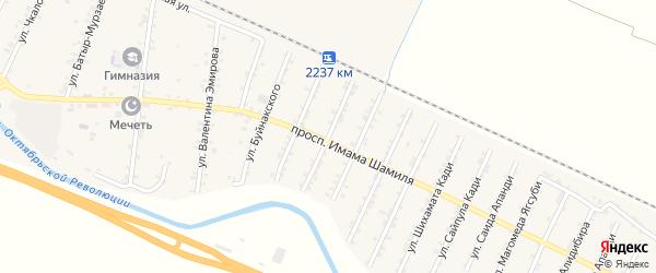 Улица Хумайда Апанди на карте Стальского села с номерами домов