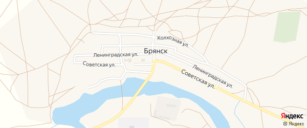 Советская улица на карте села Брянска с номерами домов
