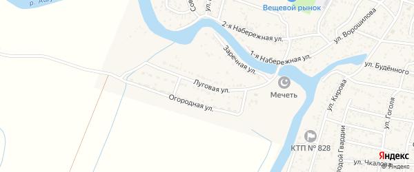 Луговая улица на карте села Сасыколи с номерами домов