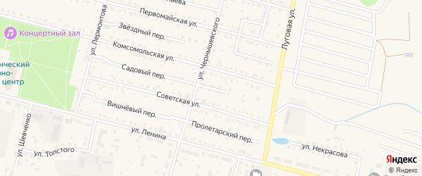 Полевой переулок на карте поселка Вурнары с номерами домов
