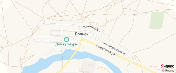 Колхозная улица на карте села Брянска с номерами домов