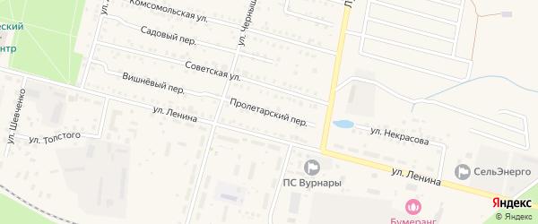 Пролетарский переулок на карте поселка Вурнары с номерами домов