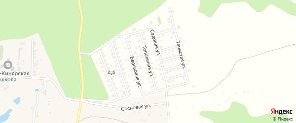 Тополиная улица на карте дачного некоммерческого партнерства Золотого с номерами домов