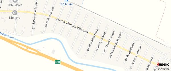 Улица Имама Газимагомеда на карте Стальского села с номерами домов