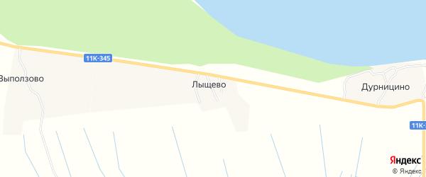 Карта деревни Лыщево в Архангельской области с улицами и номерами домов