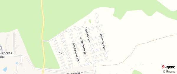 Садовая улица на карте дачного некоммерческого партнерства Золотого с номерами домов