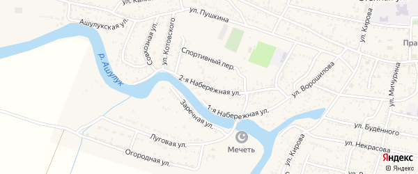 Набережная 2-я улица на карте села Сасыколи с номерами домов