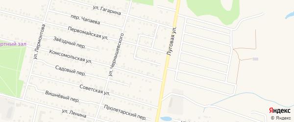 Мирный переулок на карте поселка Вурнары с номерами домов