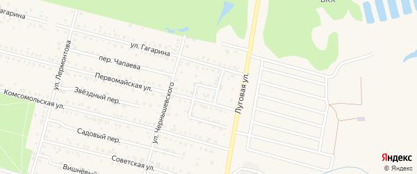 Восточный переулок на карте поселка Вурнары с номерами домов