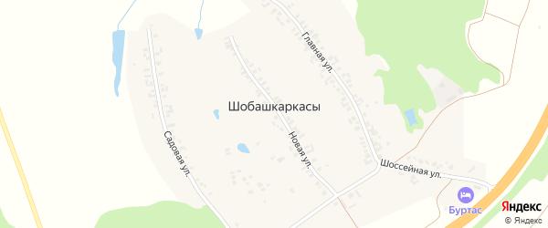Главная улица на карте деревни Шобашкаркасы с номерами домов